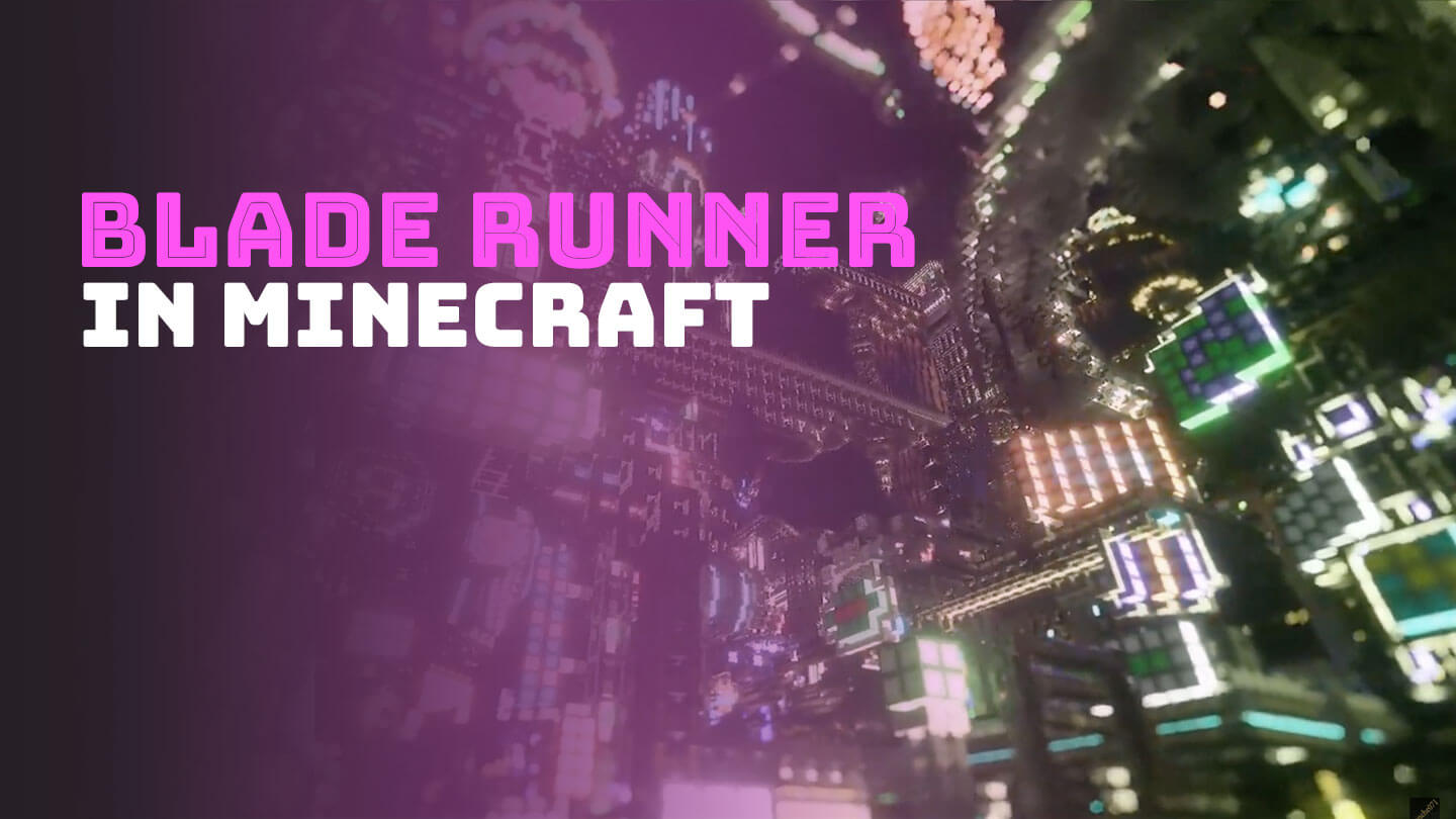 One gamer spent a year building this cyberpunk city in Minecraft