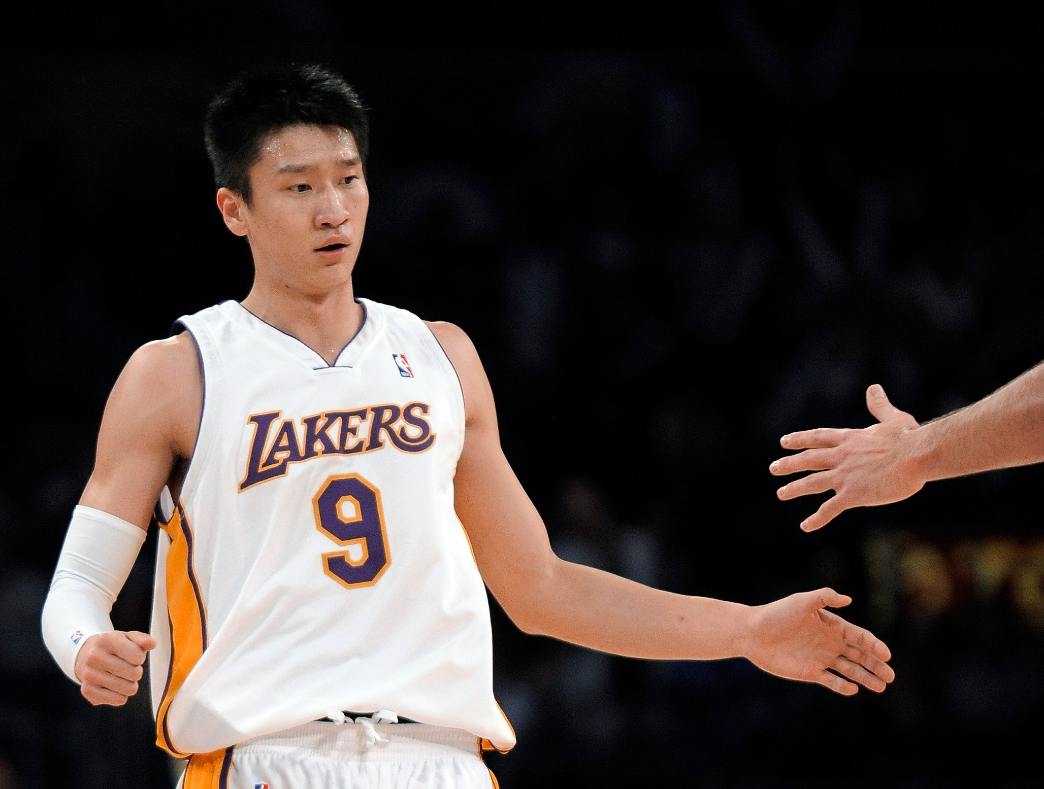 748b37b3e5a Jeremy Lin not the first Asian player to win the NBA – inside the bizarre  tale of Sun Yue's 2009 championship with Kobe Bryant's LA Lakers