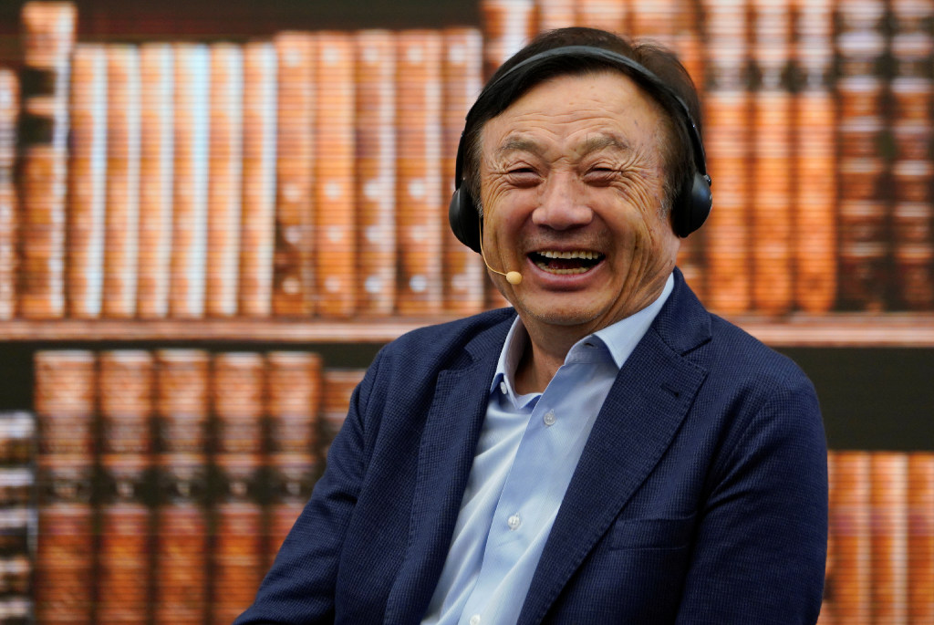 Apple fan (and Huawei CEO) Ren Zhengfei pictured with an iPad