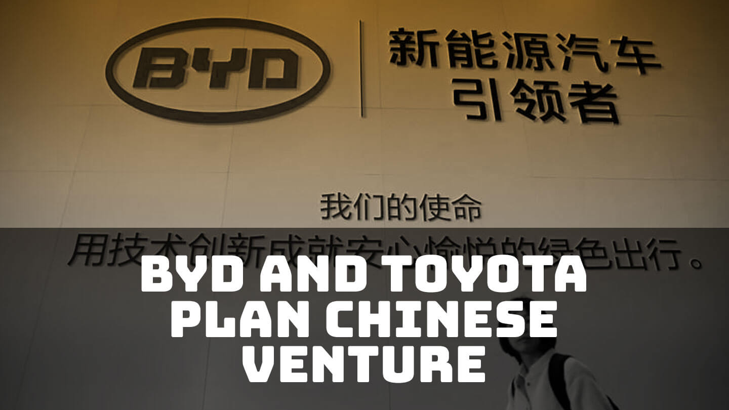 Toyota and BYD will start a Chinese joint venture for electric cars | Abacus