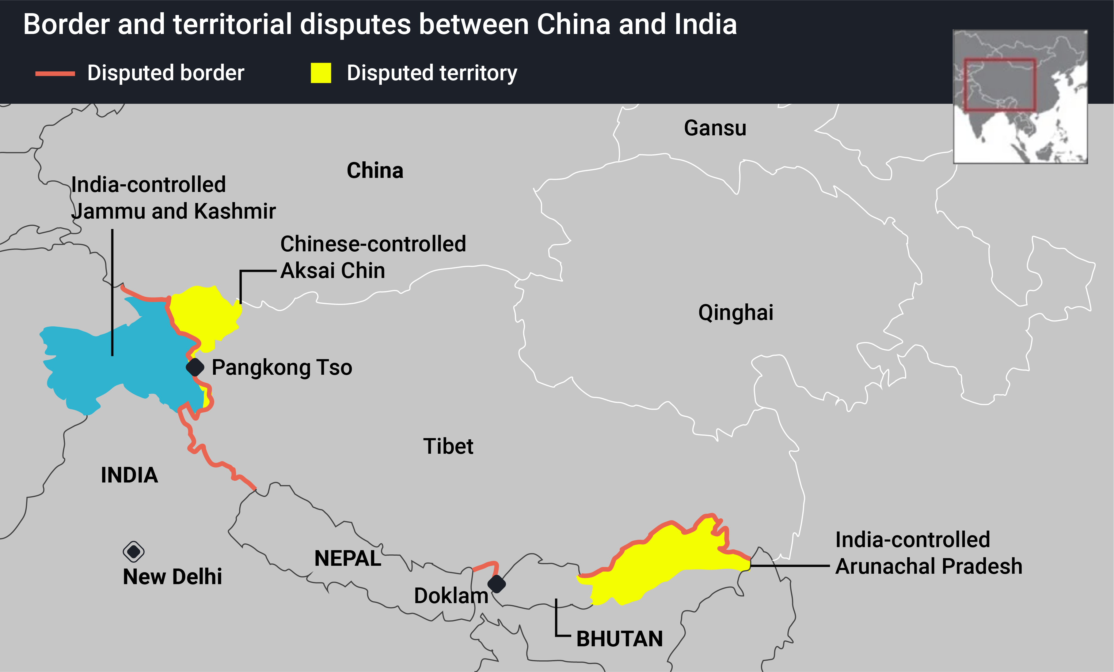 China flexing military muscle in border dispute with India