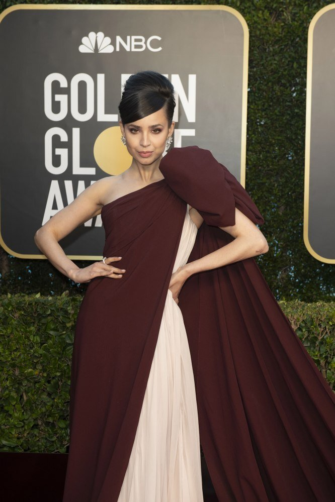 Sofia Carson arriving for the annual Golden Globe awards ceremony at the Beverly Hilton Hotel in Beverly Hills, California, USA. Photo: EPA/EFE/HFPA