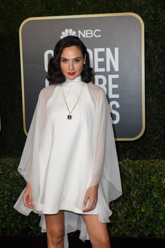 Gal Gadot arriving for the annual Golden Globe Awards ceremony at the Beverly Hilton Hotel in Beverly Hills, California, USA. Photo: EPA/EFE/HFPA