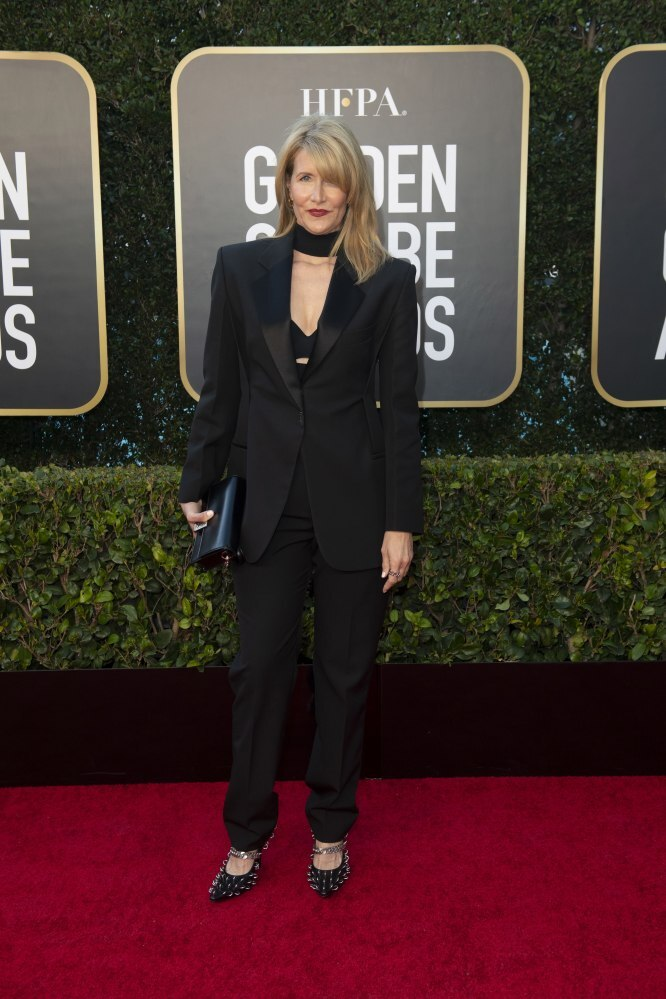 Laura Dern arriving for the annual Golden Globe Awards ceremony at the Beverly Hilton Hotel in Beverly Hills, California, USA. Photo: EPA/EFE/HFPA