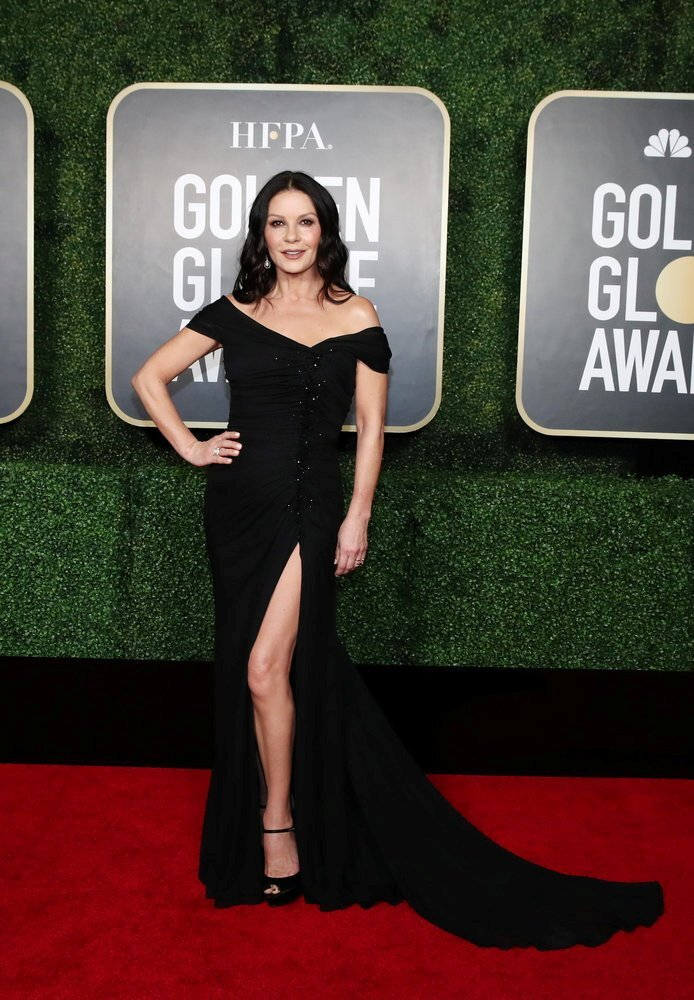 Catherine Zeta-Jones poses at the annual Golden Globe awards in New York, USA. Photo: NBC via Reuters