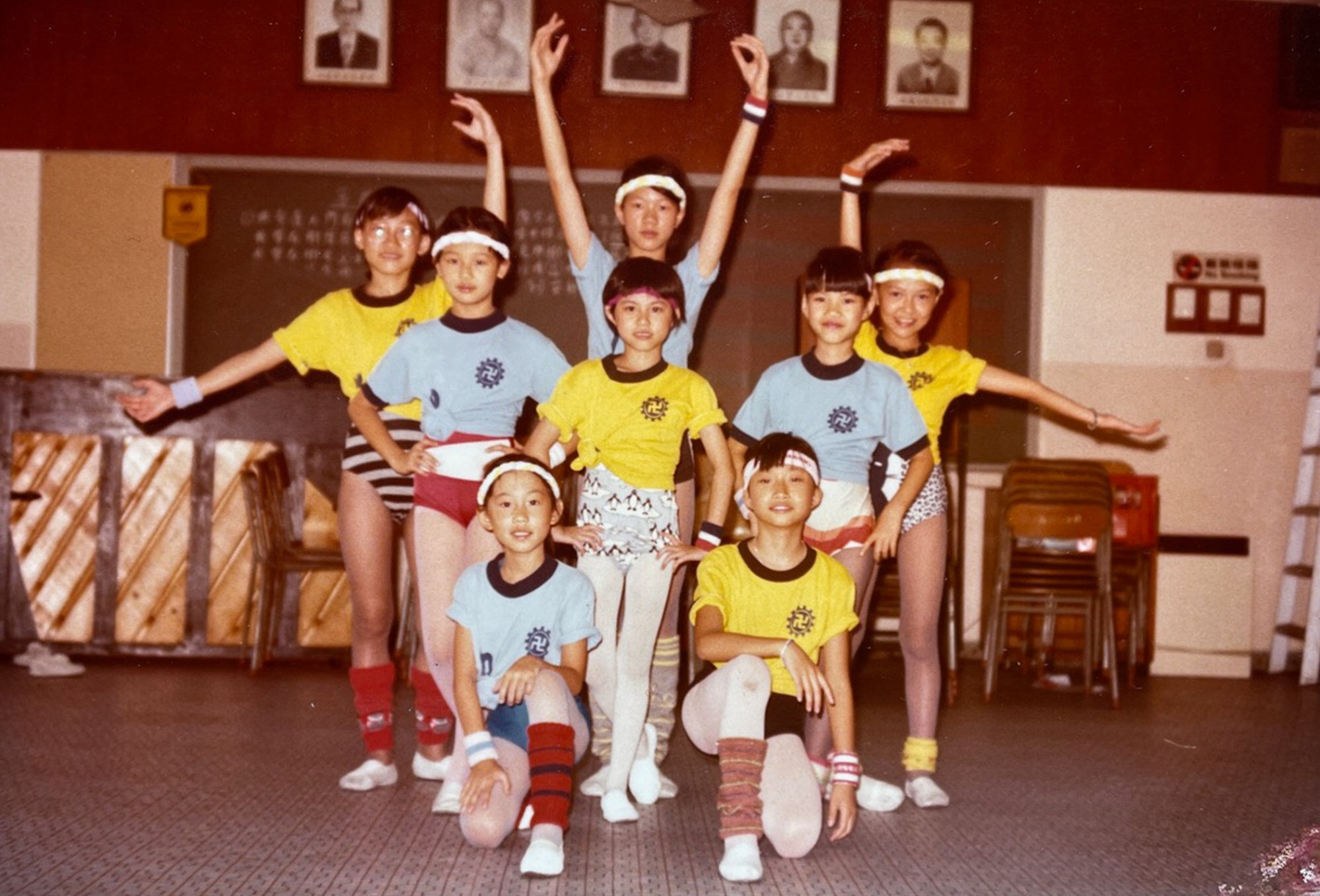 Lee (bottom right) with dancing friends before a show. Photo: courtesy of Utah Lee