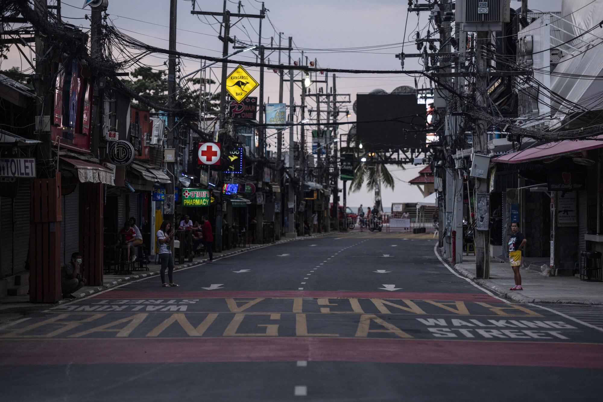 Bangla Walking Street, in Phuket, Thailand, on January 17. Photo: Getty Images