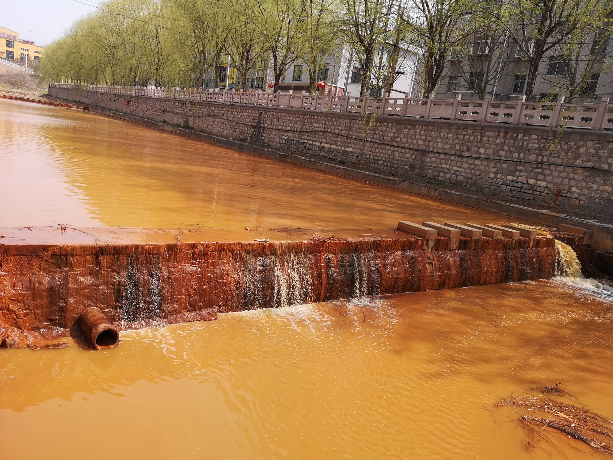 Locals believe nearby factories are mines are the cause of the pollution. Photo: Handout