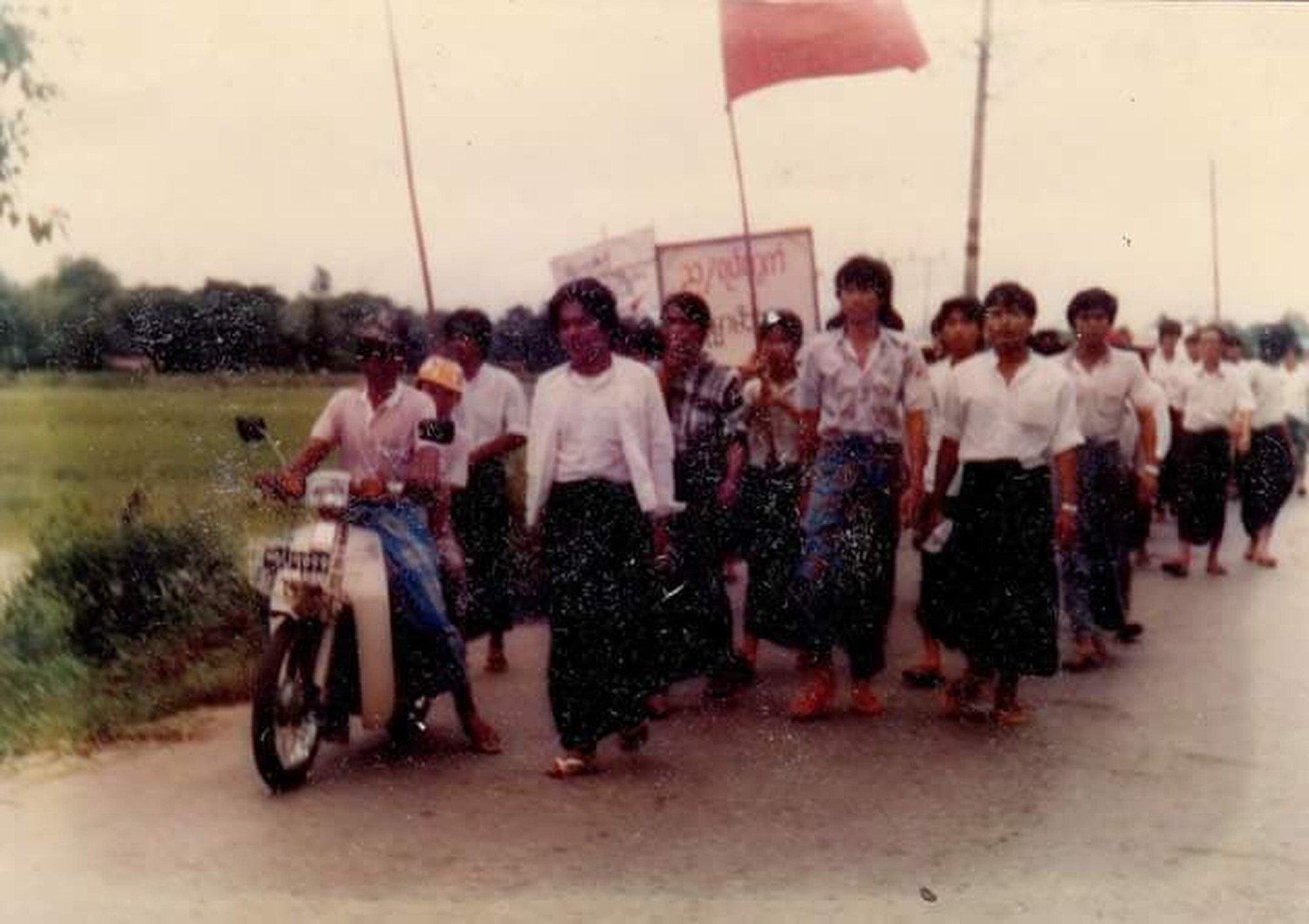 North Okkalapa during 1988 uprising. Photo: History of Burma Museum