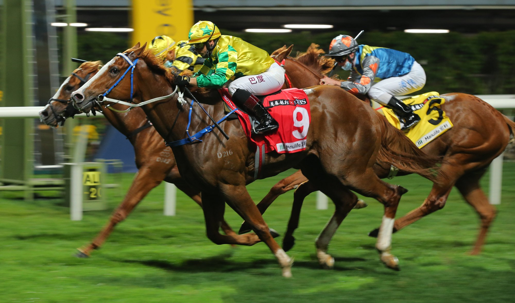 Alexis Badel drives Sky Field to victory at Happy Valley in February.