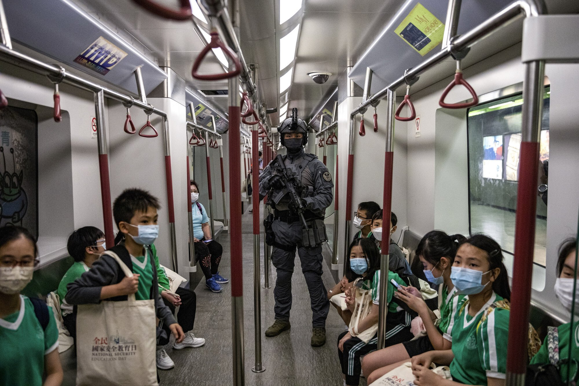 National Security Education Day was held for the first time since the Beijing-decreed legislation took effect. Photo: EPA-EFE
