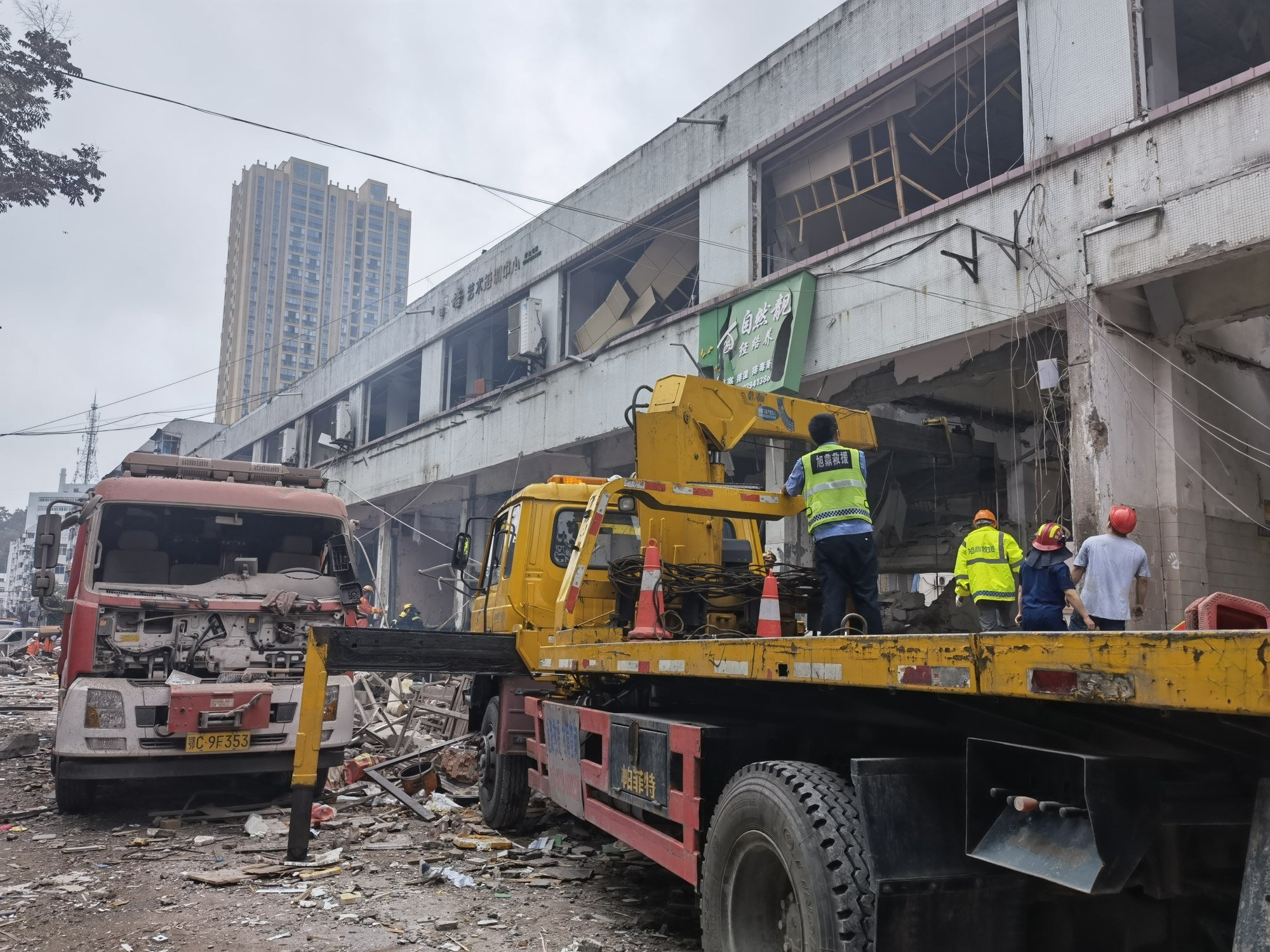 Around 150 people were rescued from the site. Photo: Xinhua