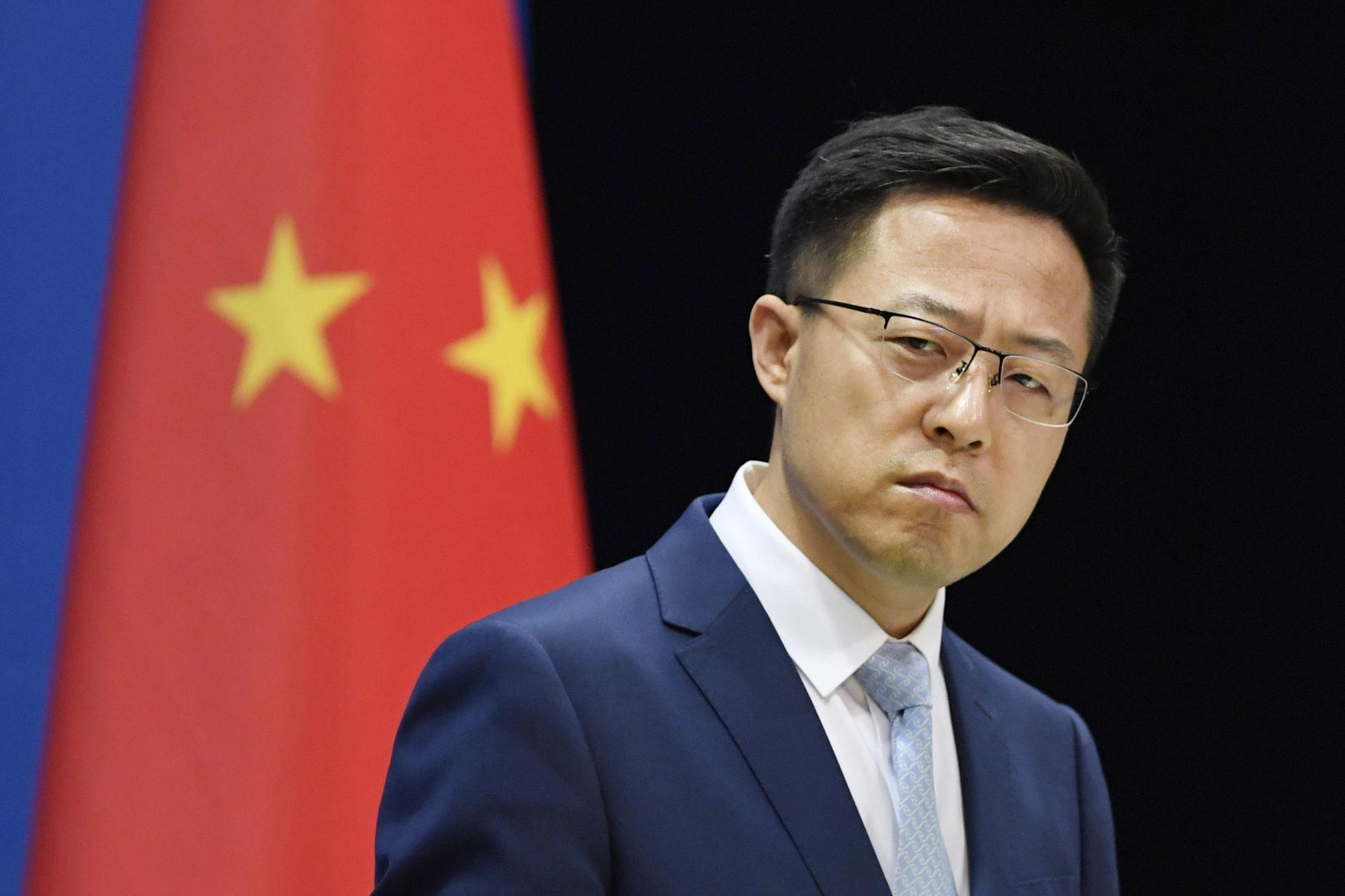 Chinese Foreign Ministry spokesman Zhao Lijian. Photo: Kyodo