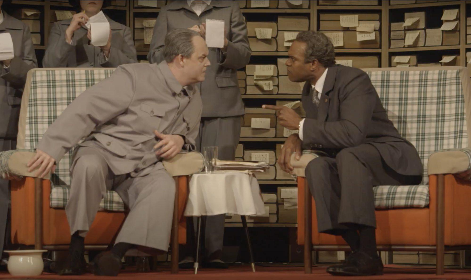 Mark LeBrocq and Eric Greene in Nixon in China. Photo: YouTube/Scottish Opera