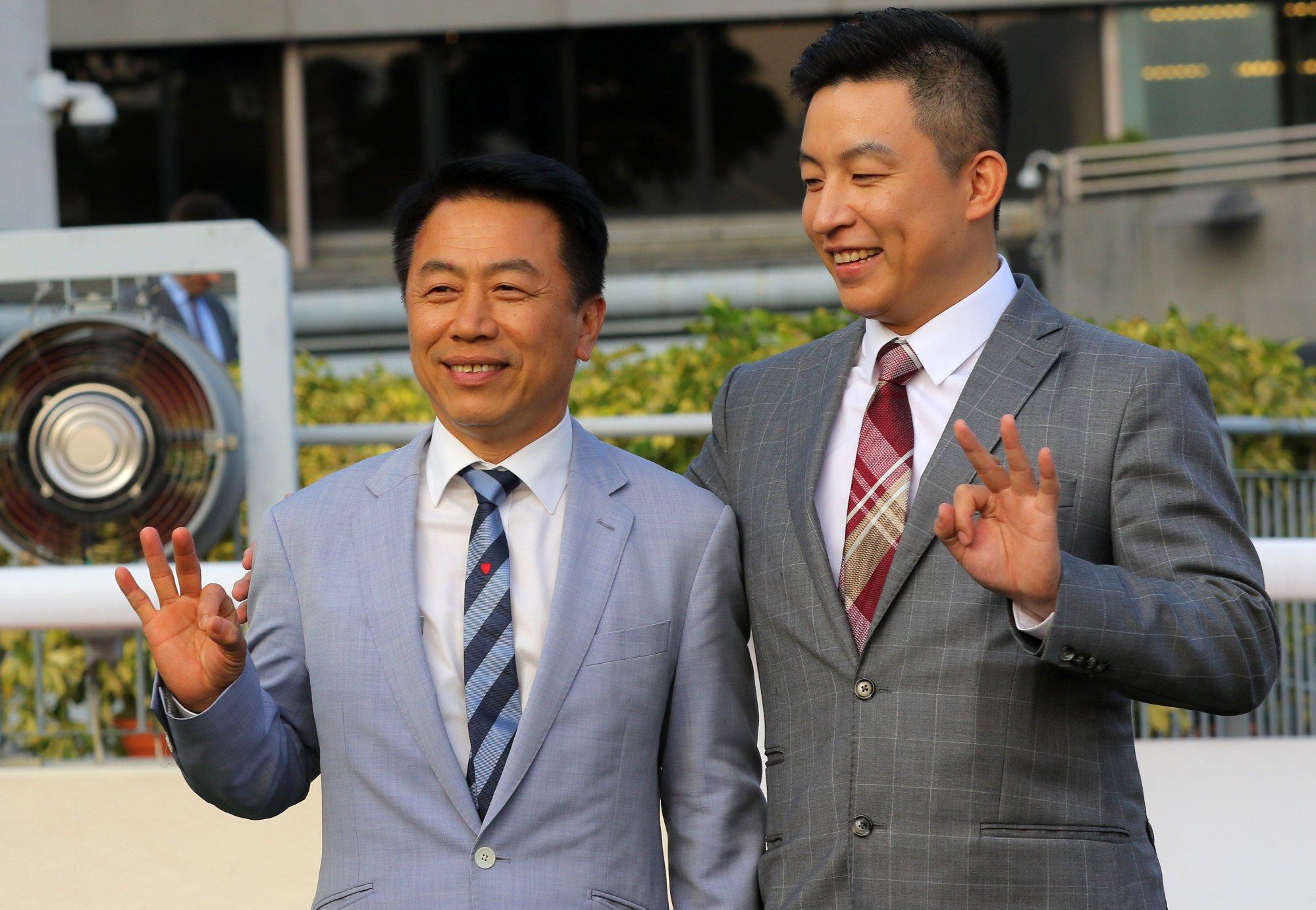 Ricky Yiu and son Eric.