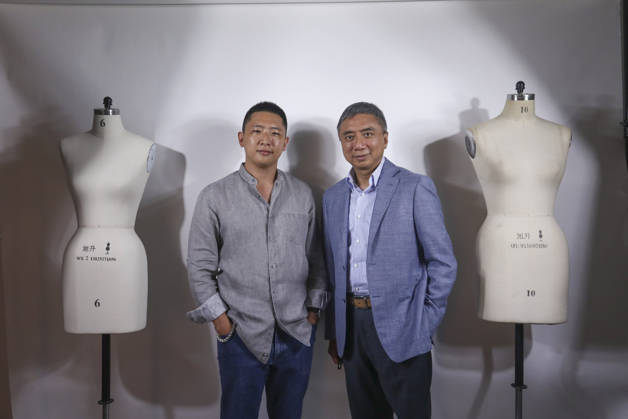 Bombyx, says Andrew Hui, pictured with his son and business partner, is currently the only real producer of environmentally friendly silk in China. Photo: Jonathan Wong