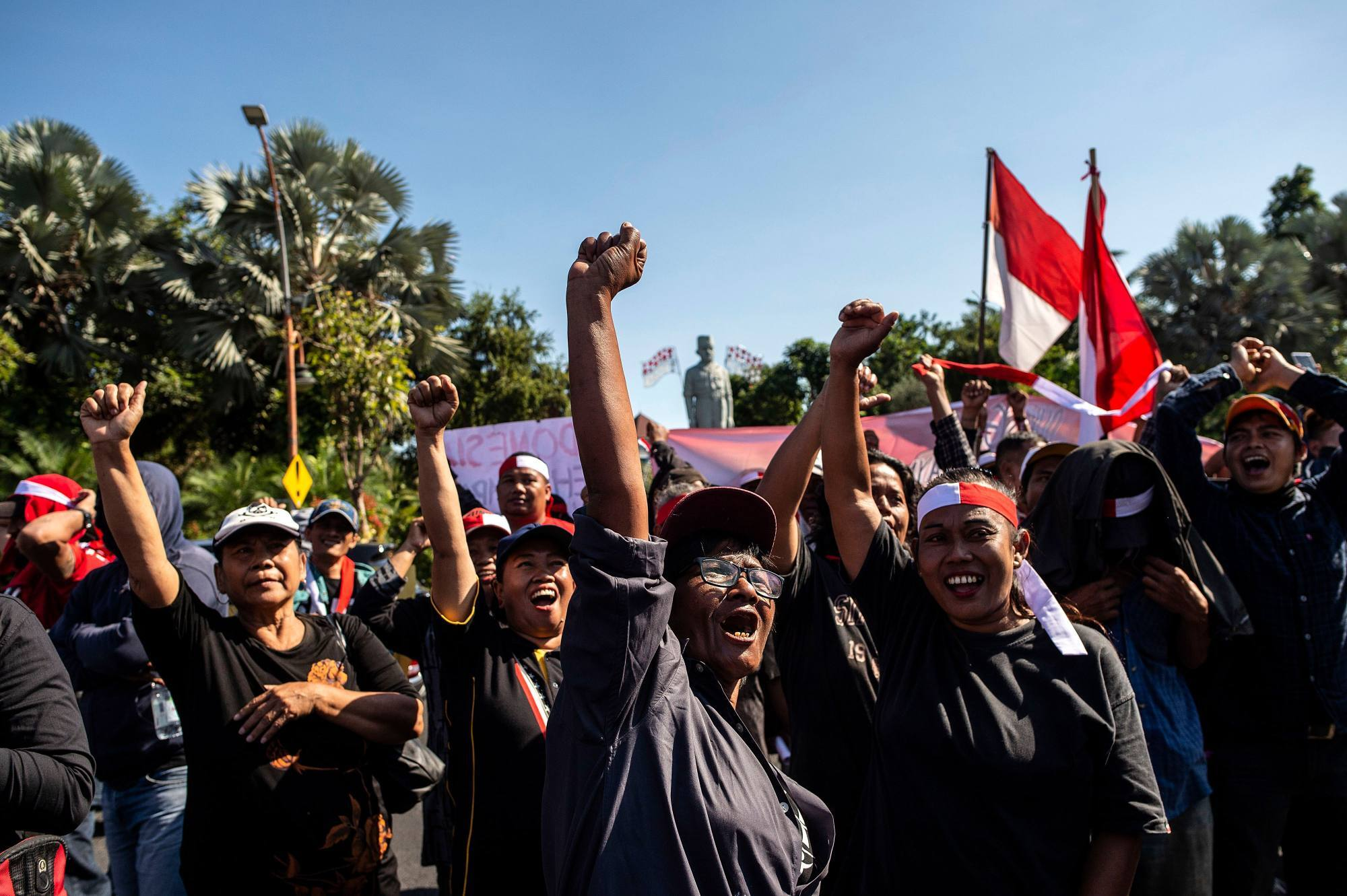 Indonesian activists gather in Surabaya in Indonesia's Papua region during protests in 2019. Photo: AFP