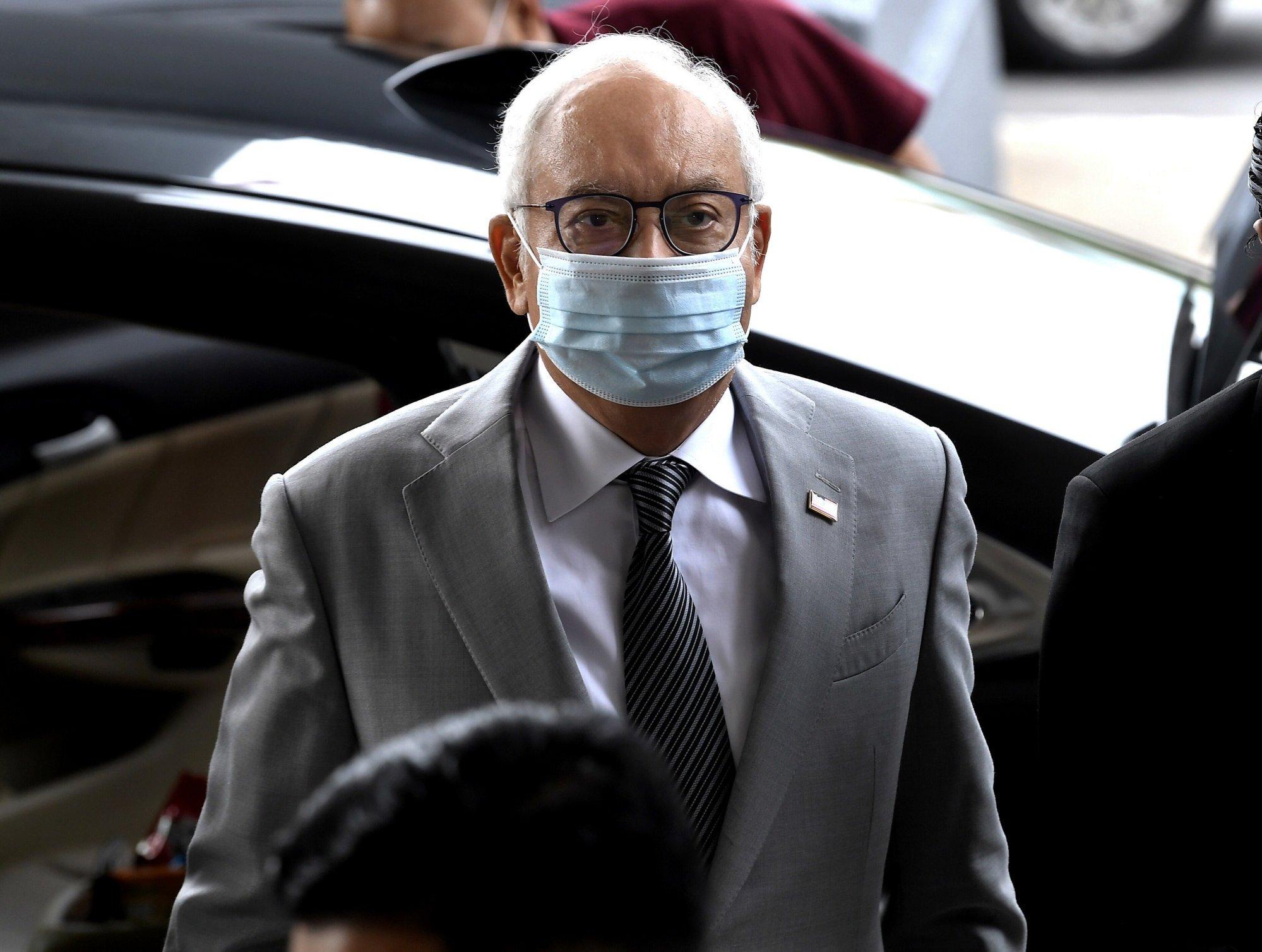 Najib Razak arrives at Kuala Lumpur High Court for a 1MDB trial in May. Photo: DPA