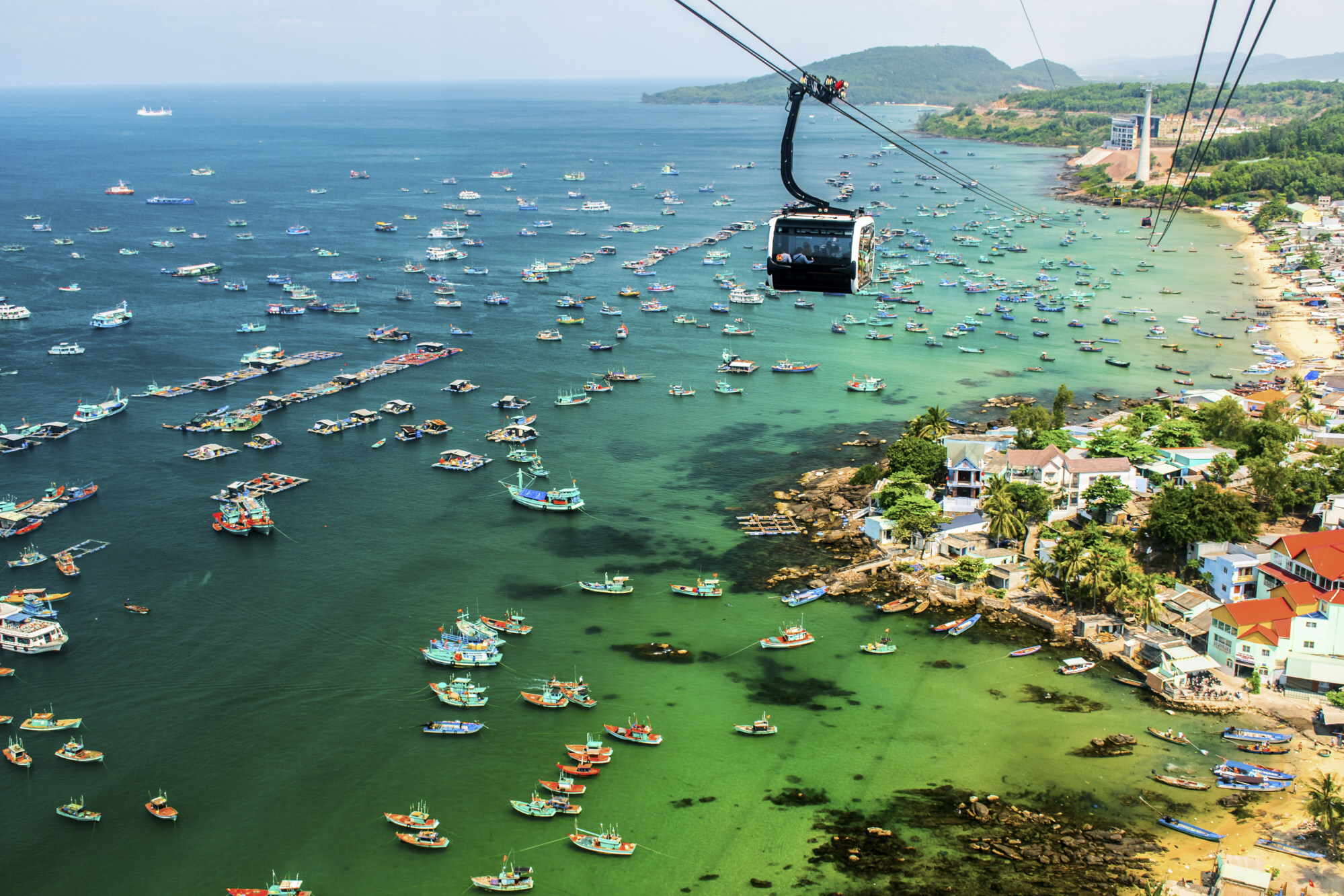 A cable car on Phu Quoc Island in South Vietnam. Photo: Shutterstock