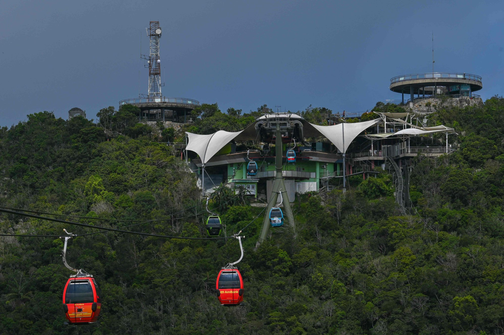 Langkawi Skycab cable cars in operation. Photo: AFP
