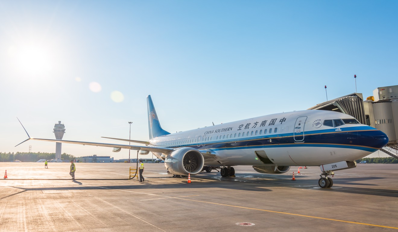 A China Southern Boeing 737 MAX at Saint Petersburg airport in Russia. Photo: Shutterstock