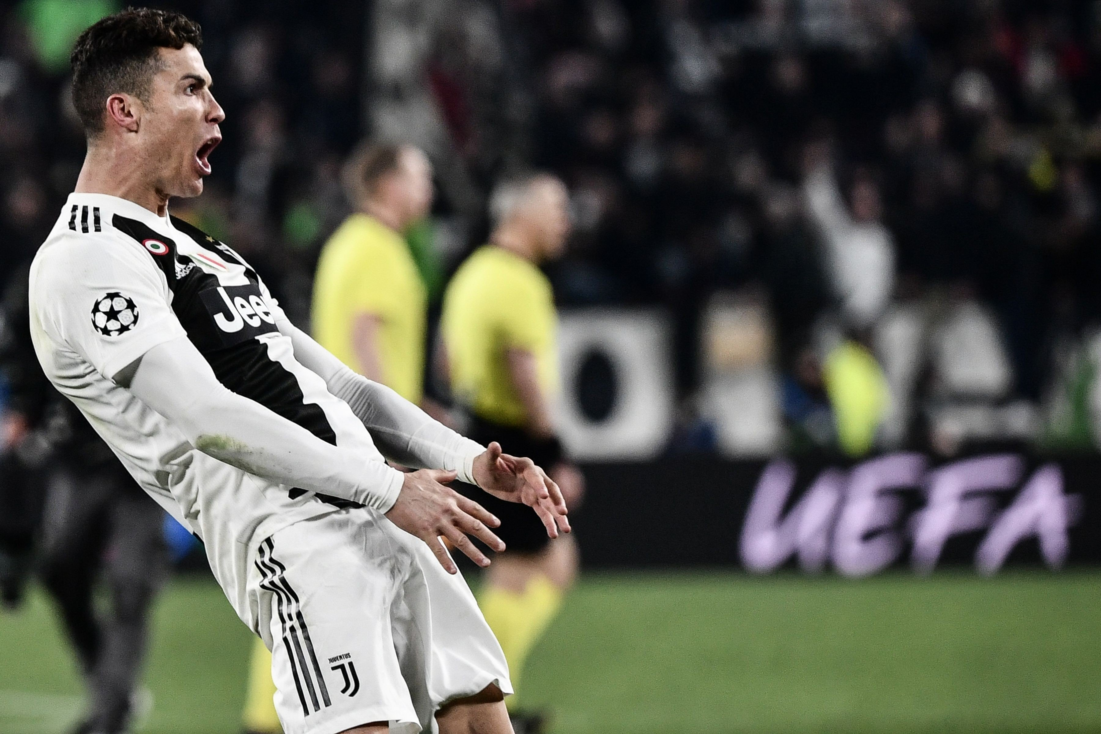 d6062be71b2 Cristiano Ronaldo s hat-trick celebration trolls Diego Simeone but could land  him in hot water