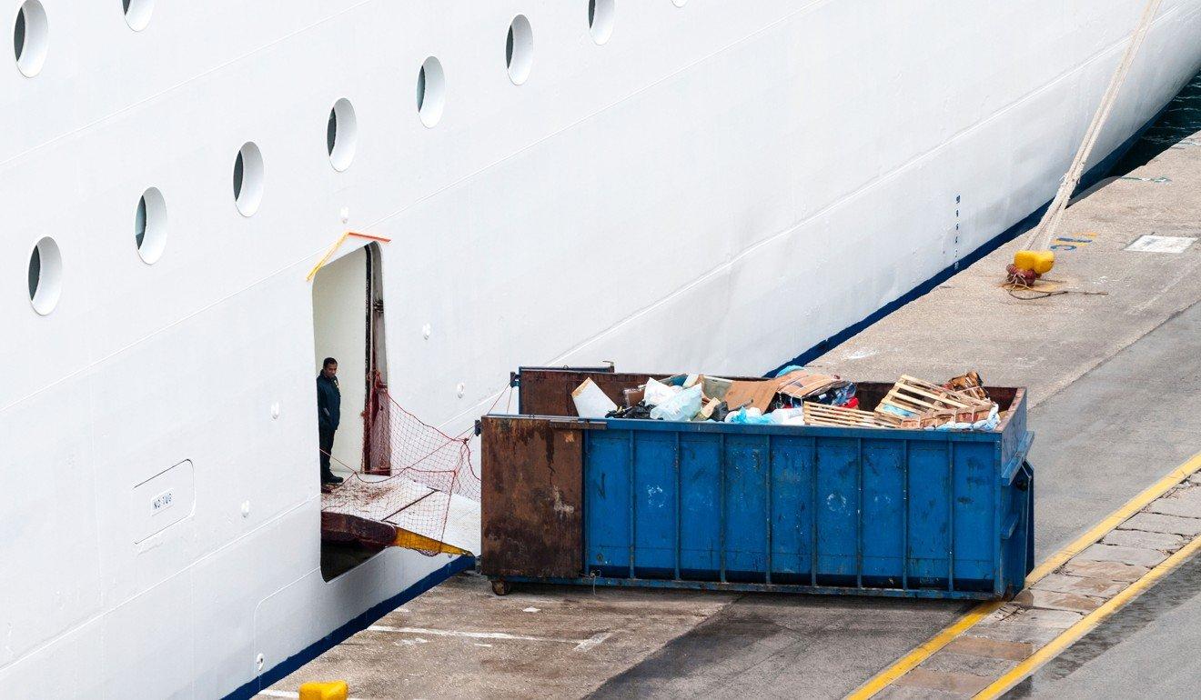 Cruise-ship waste is dumped dockside. Photo: Alamy