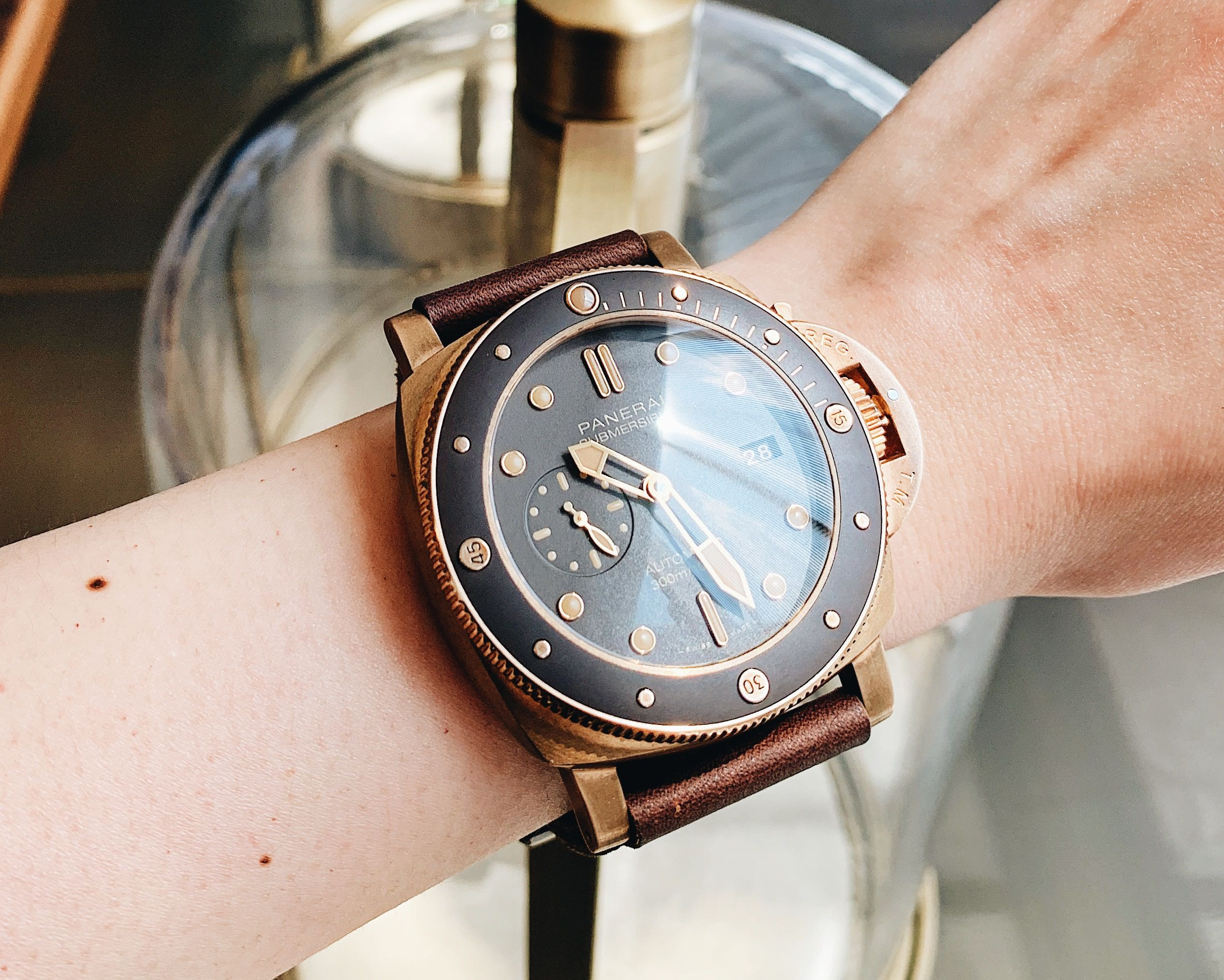 7d6200b0b54 Panerai s new Bronzo PAM 968 Submersible  watch as we get hands-on with it