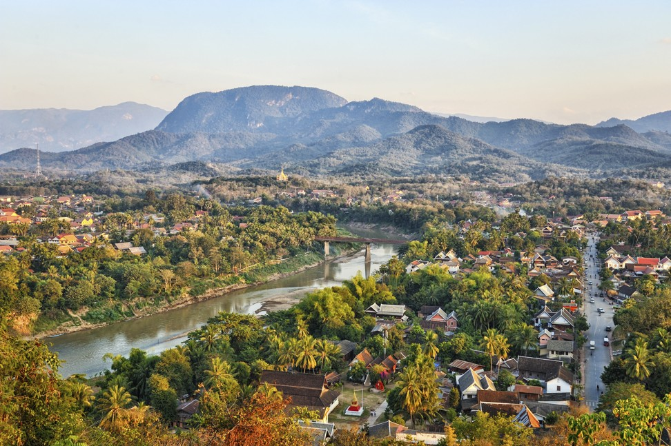 A view of the Nam Khan river from Phou Si hill in Luang Prabang as of 2018. Photo: Alamy