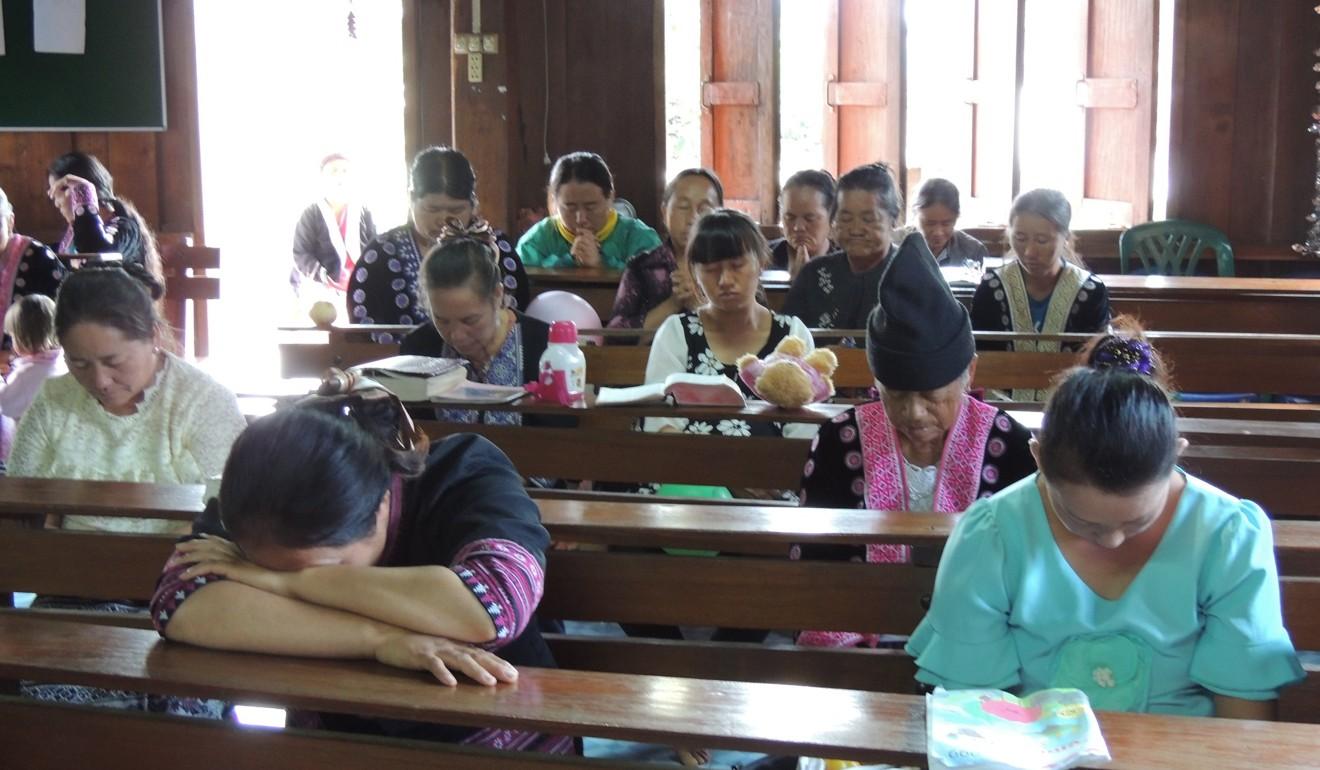 Worshippers attend a church service in northern Vietnam. No such churches exist in Dien Bien. Photo: Josep Prat