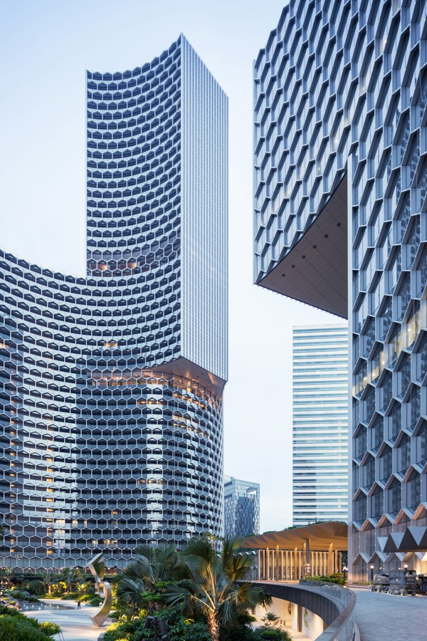 The DUO tower, in Singapore. Photo: Ole Scheeren