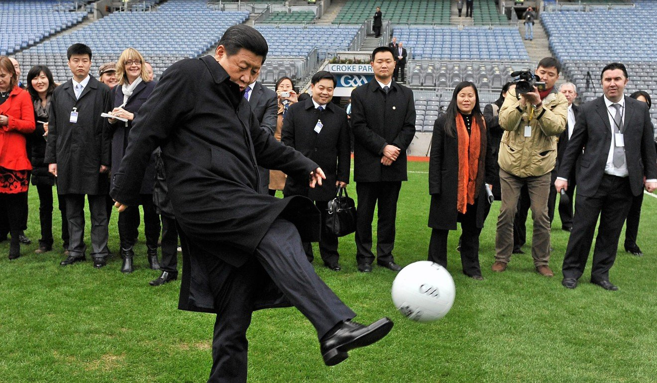 President Xi Jinping wants a generation of Chinese toddlers to aspire to play football on the world's biggest stage. Photo: AP