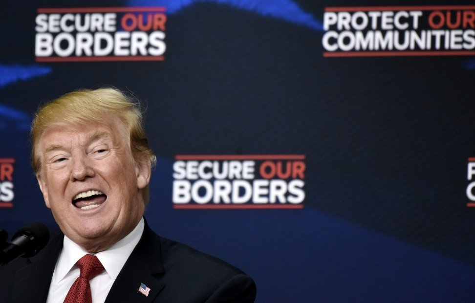 US President Donald Trump discusses immigration during an event with Angel Families in the South Court Auditorium of the White House in Washington DC, on Friday, June 22, 2018. Photo: Abaca Press/TNS