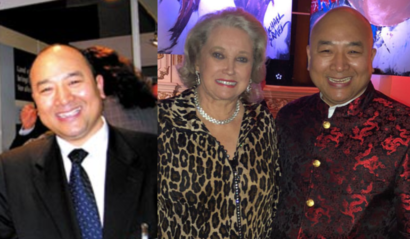Lee (left) pictured in a 2007 investigative report and identified as Li Chongrui, and (right) in a more recent photograph from his defunct website with Elizabeth Trump Grau, sister of the US president. Photo: Handout