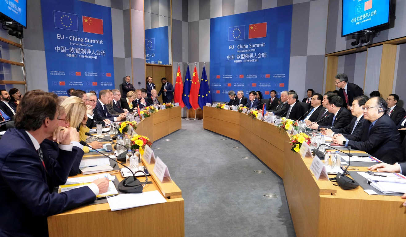 Zhang said that although the summit had shown China-EU relations remained strong, he still had work to do to assuage the concerns of Chinese investors. Photo: AFP