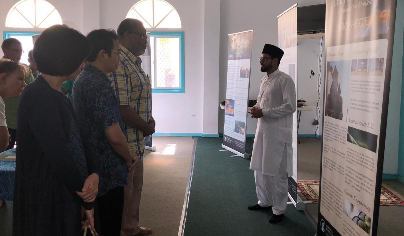 Sajid Iqbal delivers a sermon. Photo: Sajid Iqbal