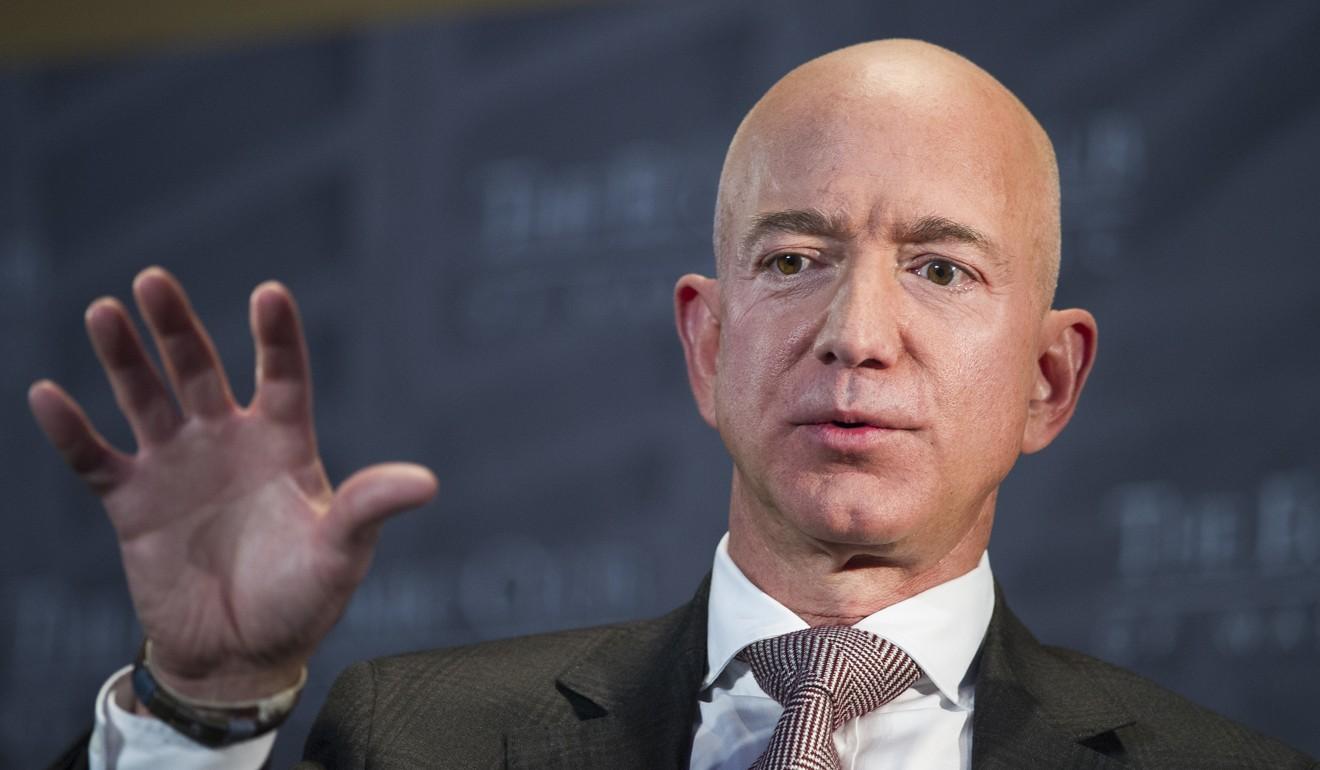 Amazon founder Jeff Bezos speaks at the Economic Club in Washington on September. Photo: AP
