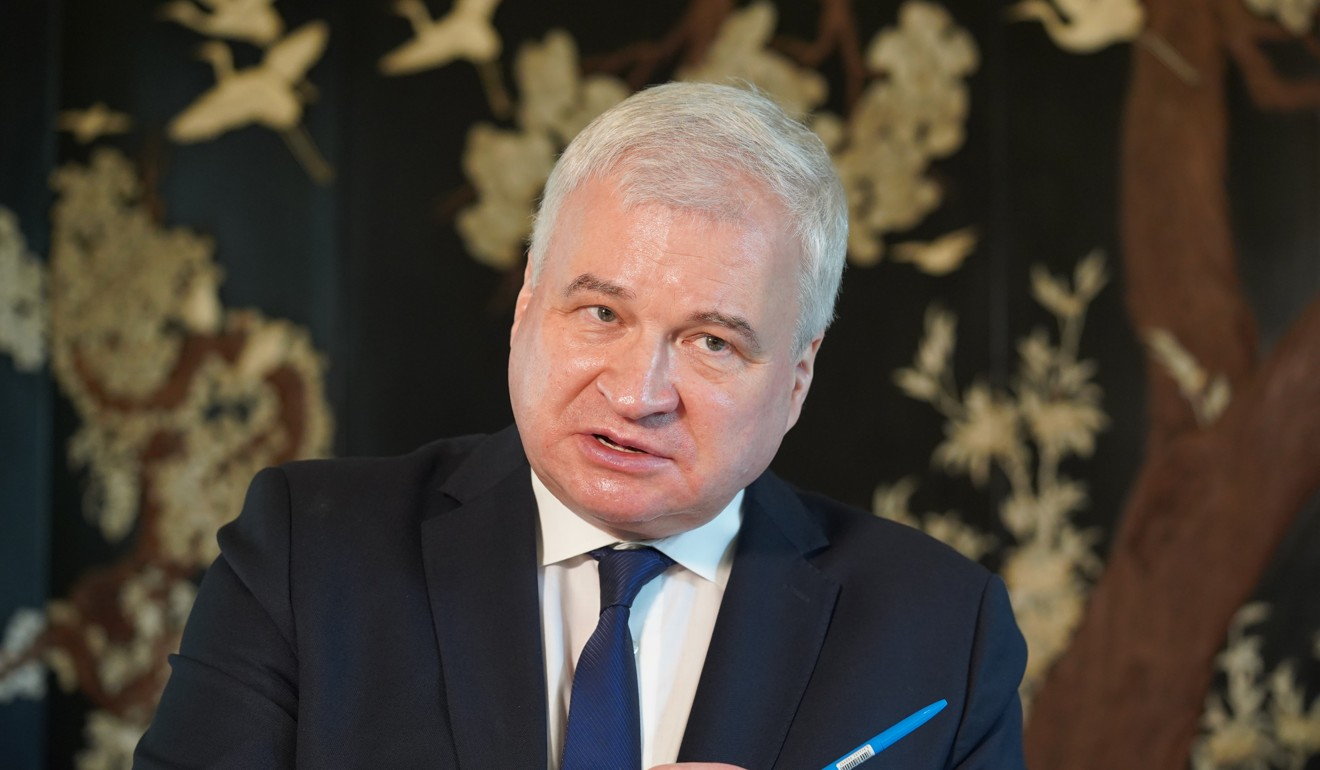 Moscow's ambassador to China, Andrey Denisov, says Chinese engagement in Central Asia does not hurt Russian interests. Photo: Tom Wang