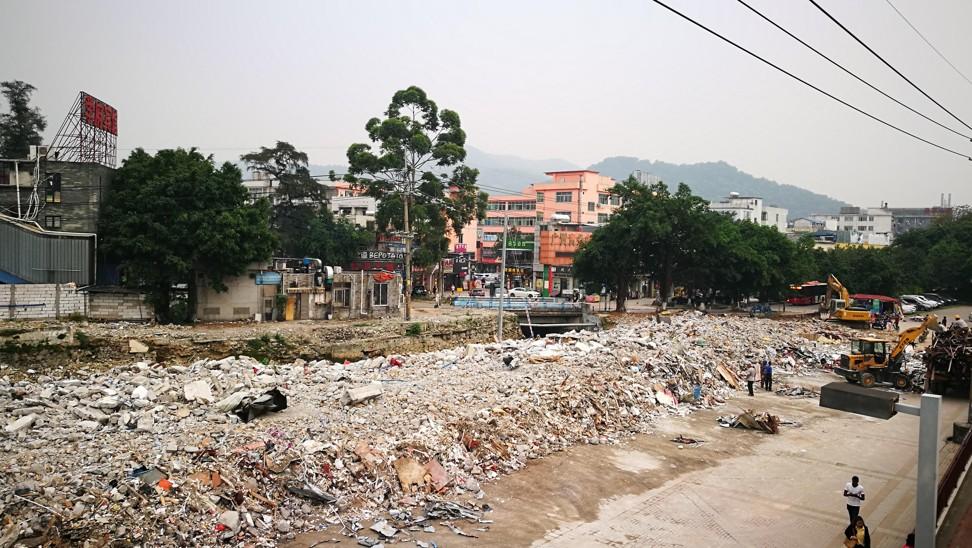 Some demolition work in Chentian village has already started.