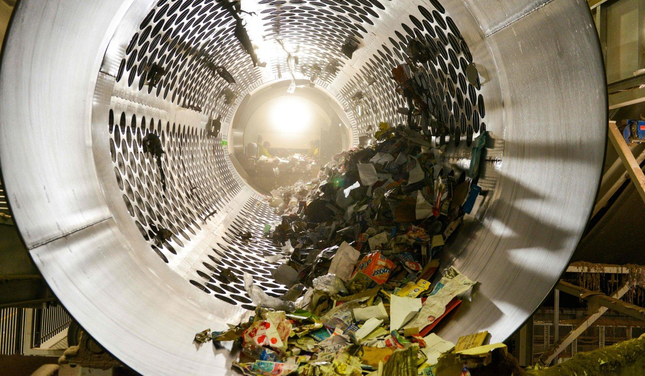 Rubbish is sifted and sorted at Northern Adelaide Waste Management Authority's recycling site at Edinburgh, a northern suburb of the city of Adelaide. Photo: AFP