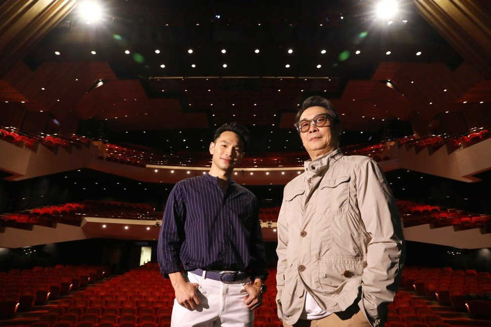 Wong (left) and director Damian Lau in the Hong Kong Cultural Centre's Grand Theatre. Photo: K. Y. Cheng