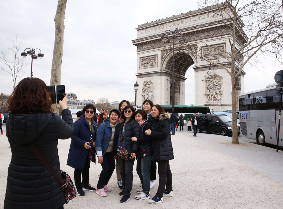 "The Arc de Triomphe stands at the western end of the Champs-Élysées, where a Chinese tourist identified only as ""Shen"" was allegedly robbed on April 1. Photo: Xinhua"