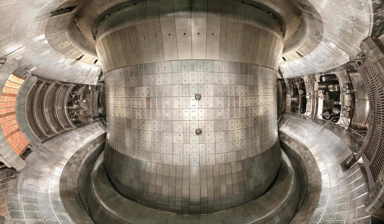 A vacuum vessel inside the fusion reactor, which has achieved a temperature of 100 million degrees Celsius – six times as hot as the sun's core. Photo: AFP/Chinese Academy of Sciences