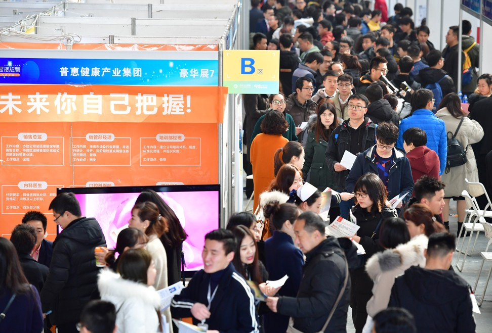 According to figures released by China's National Bureau of Statistics, the per capita nationwide wage income rose 8.7 per cent to 4,838 yuan combined in the first quarter, or 1,613 yuan a month. Photo: Xinhua