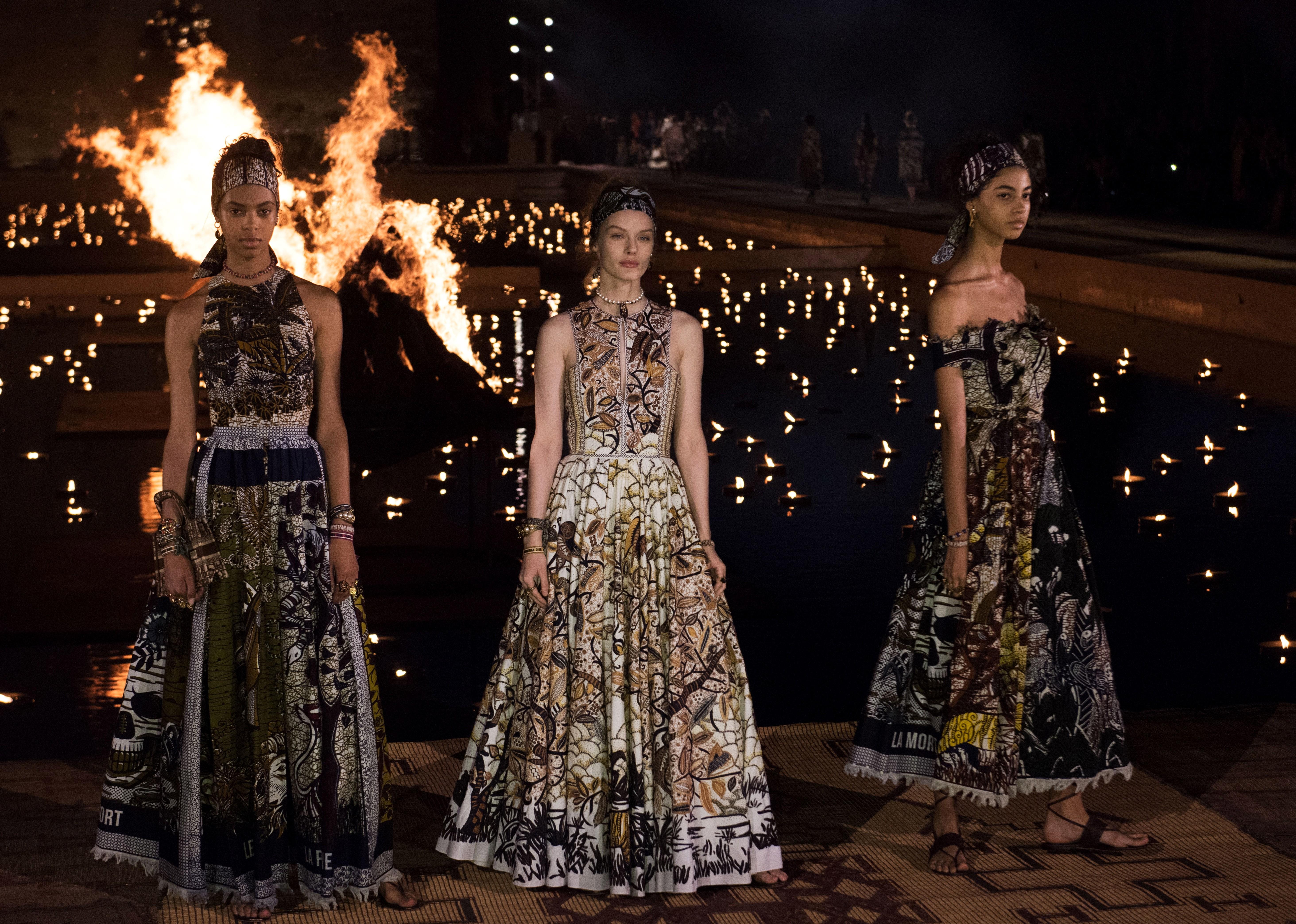 09939ba6d36 Stars Lupita Nyong'o and Jessica Alba shine as Dior's Cruise show lights up  Marrakech's night sky