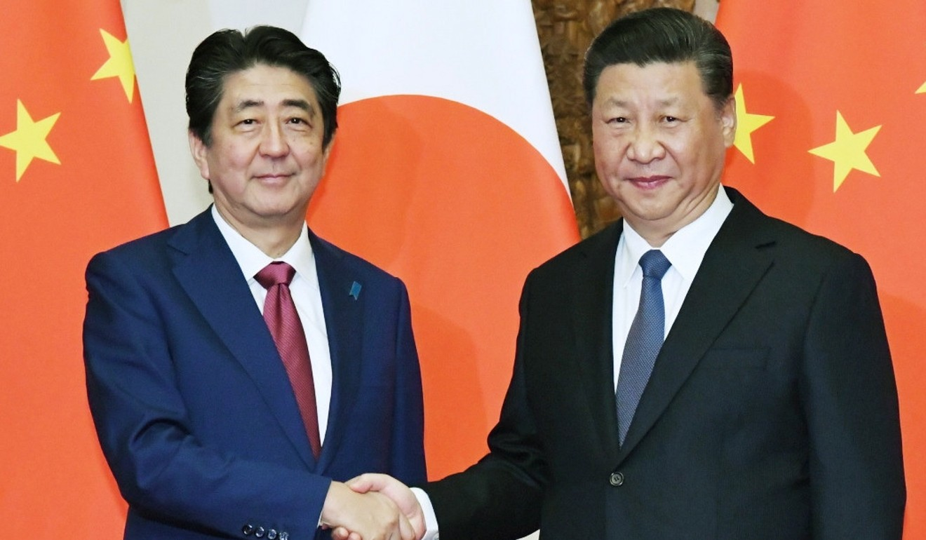 Chinese President Xi Jinping and Japanese Prime Minister Shinzo Abe are likely to continue their diplomacy during and after June's G20 summit in Osaka. Photo: EPA