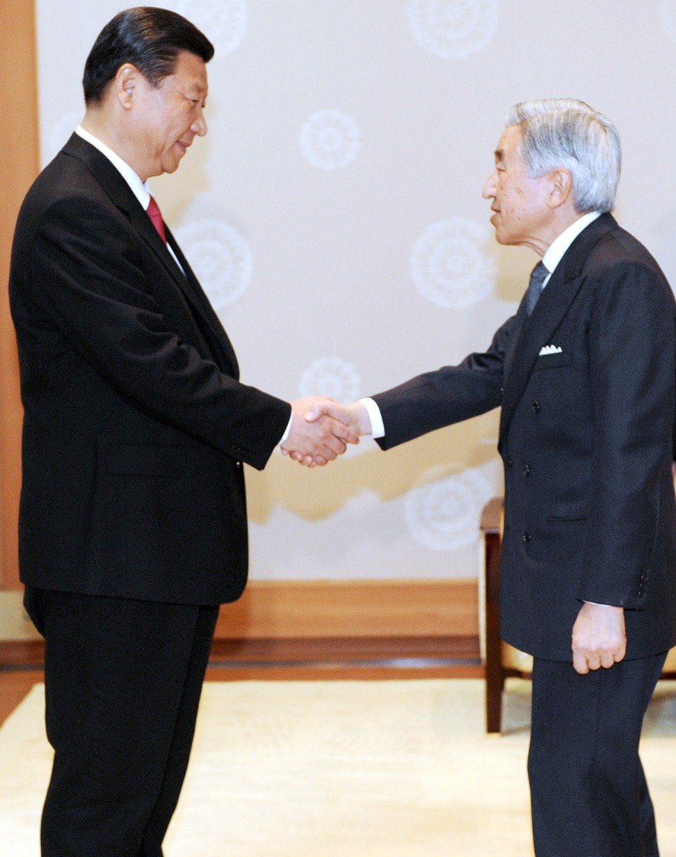 Xi Jinping, then Chinese Vice-President, meets Emperor Akihito in Tokyo in December 2009. Photo: Xinhua