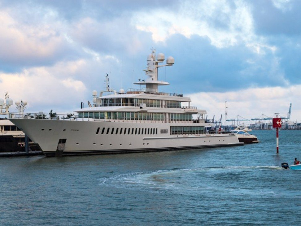Which are the top 10 countries with the most superyachts off their
