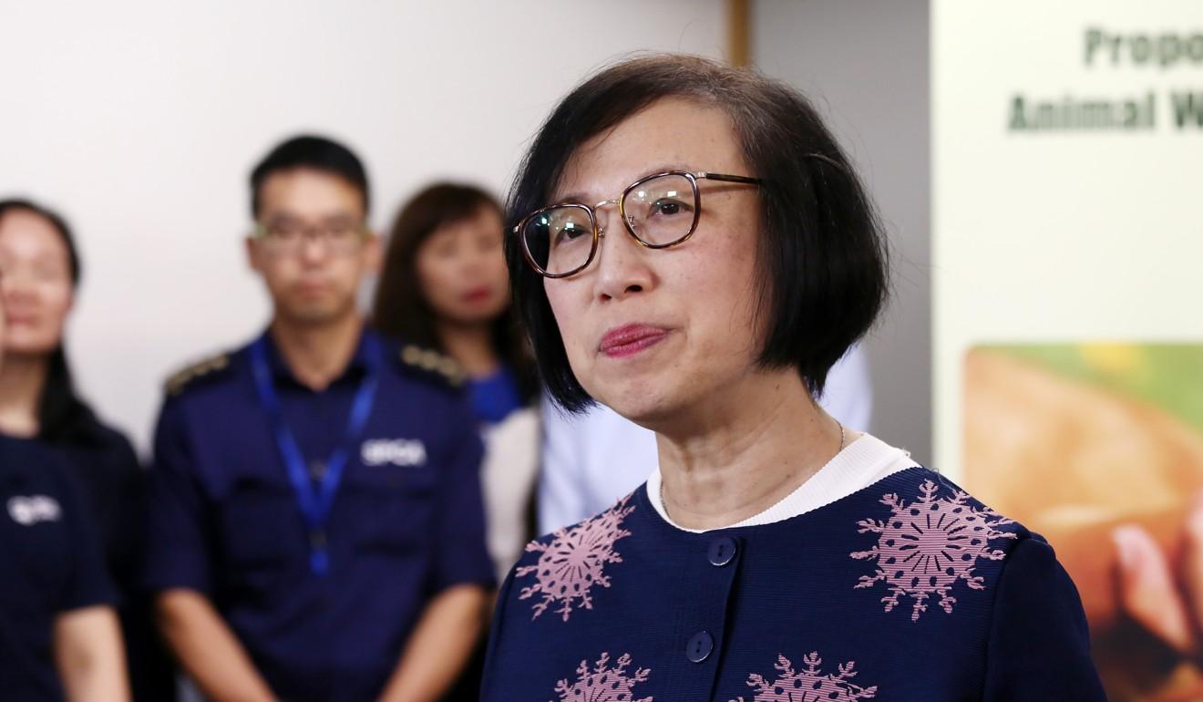 Secretary for Food and Health Sophia Chan said the laws aimed to promote positive animal welfare. Photo: Jonathan Wong