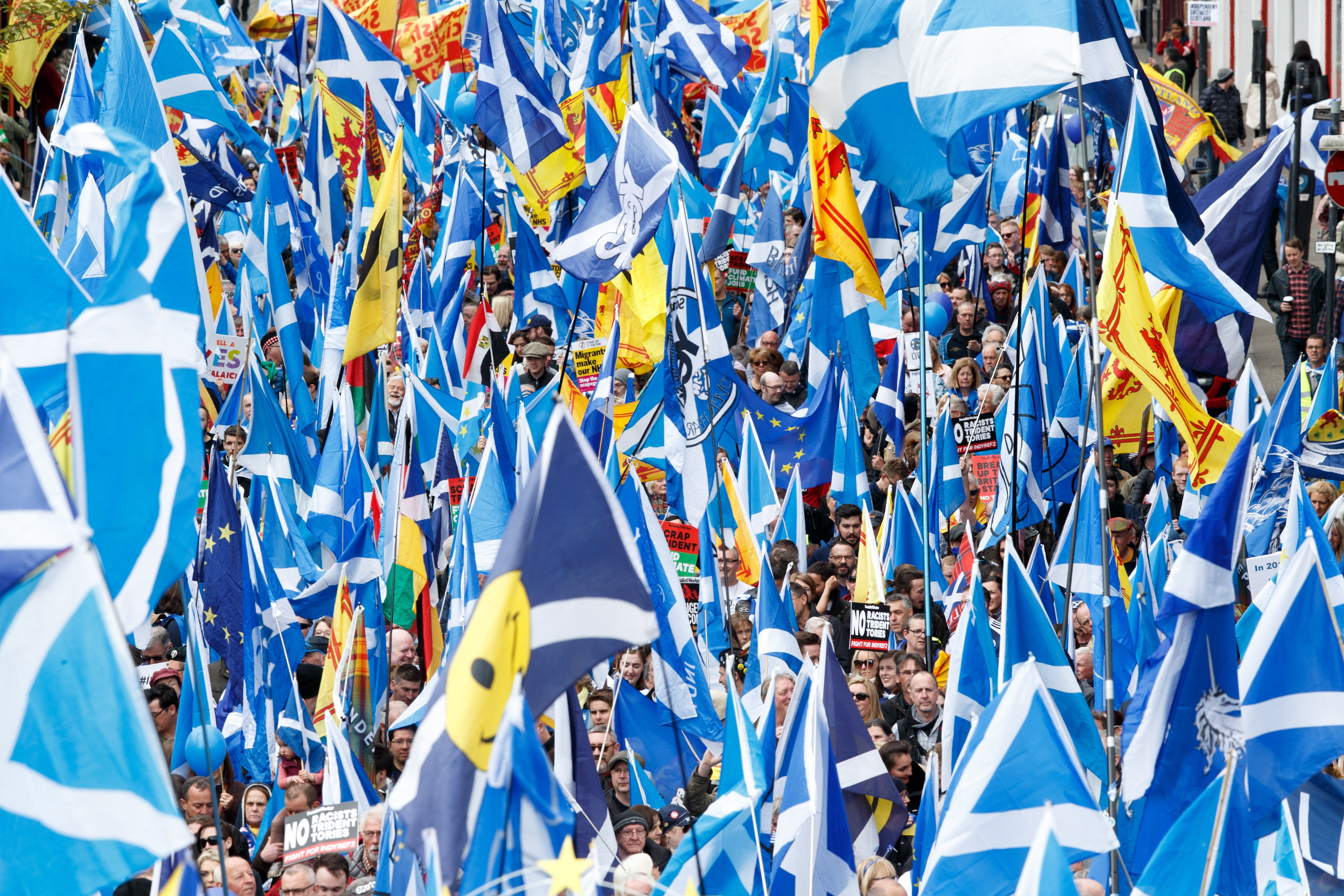 Thousands join Glasgow march for Scotland independence | South China
